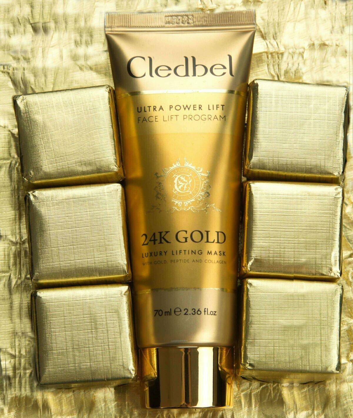 Маска-пленка Cledbel 24K Gold с лифтинг-эффектом в Балаково