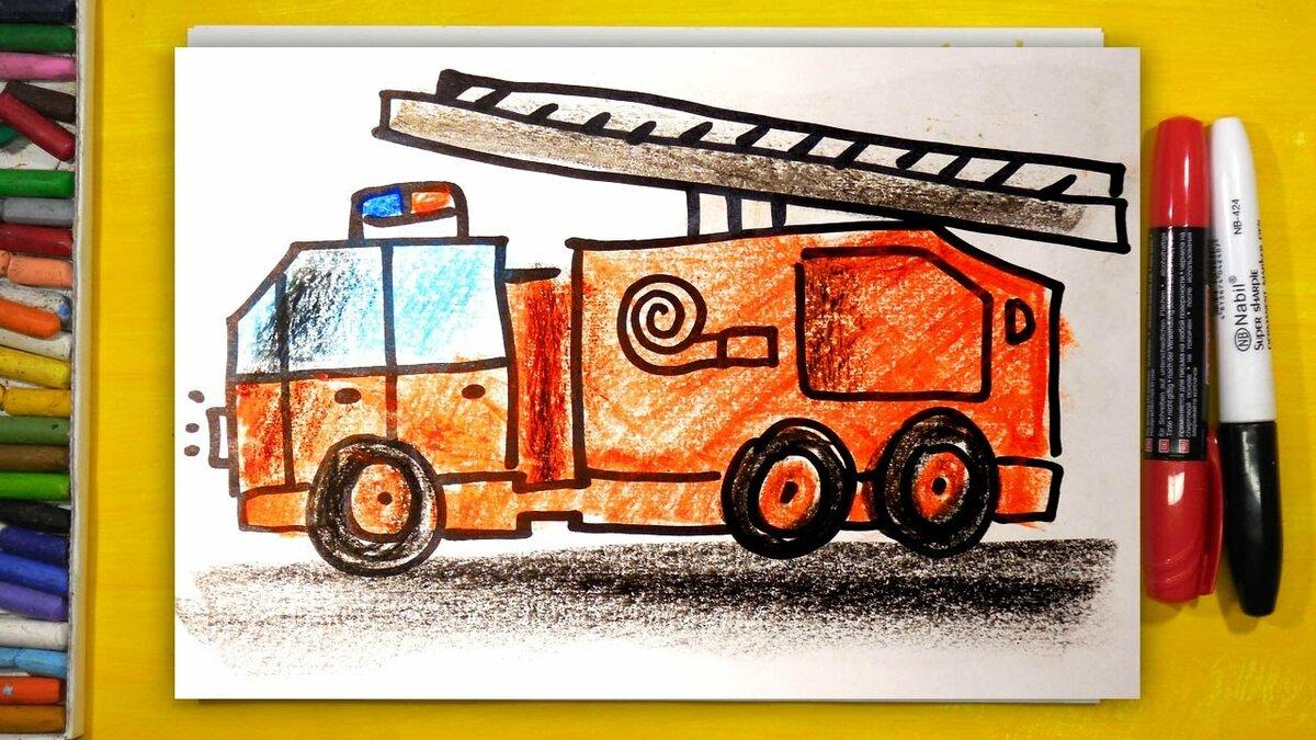 Рисование пожарной машины в подготовительной группе этом