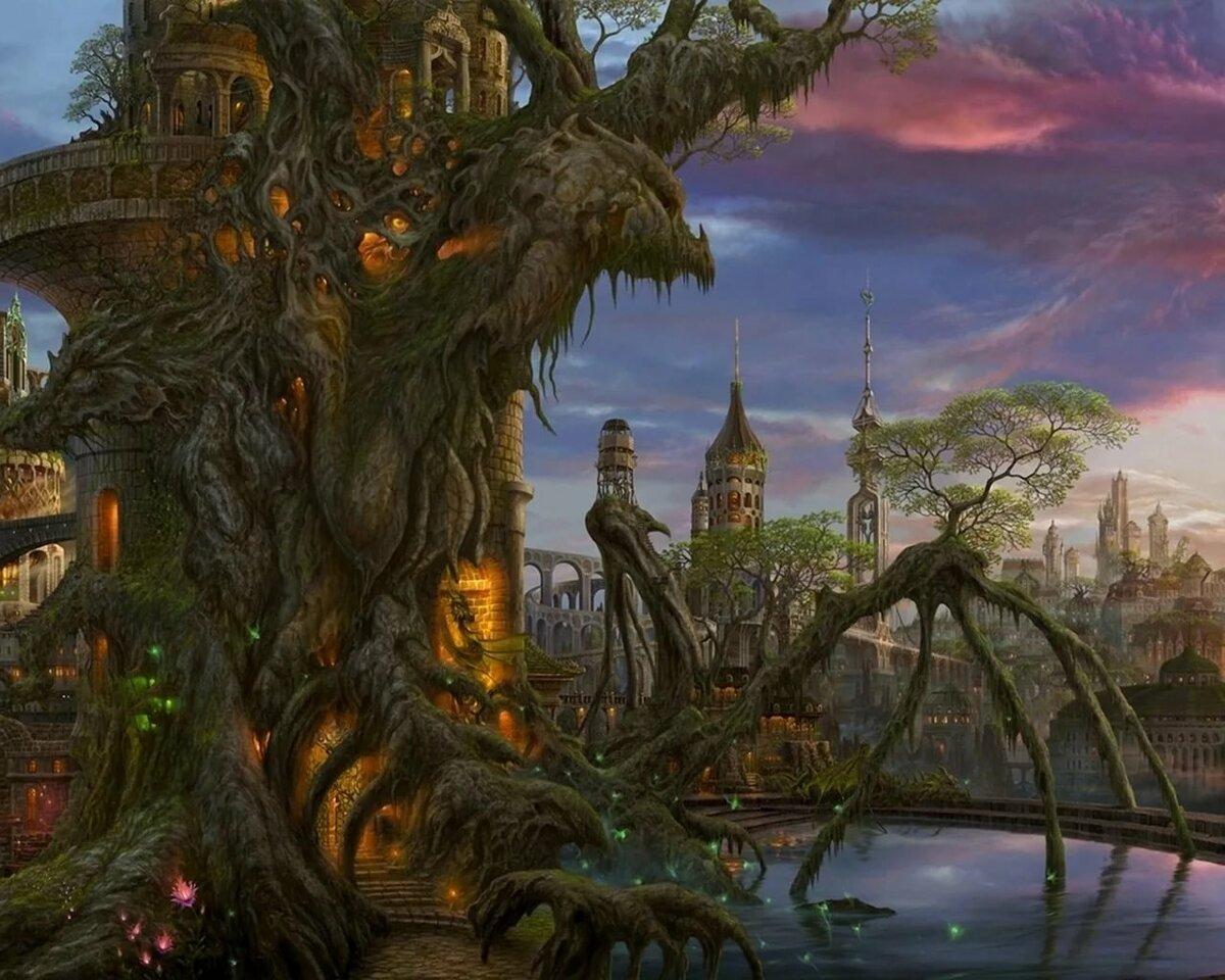 фантастические сказочные миры картинки виджете поиска