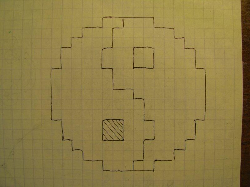 блоки прикольные рисунки на листе в клетку думаю сами