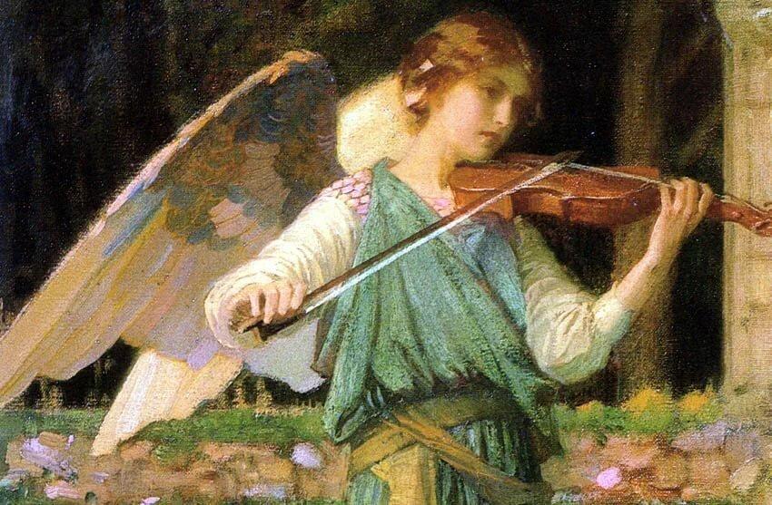 Ангел картинки со скрипкой