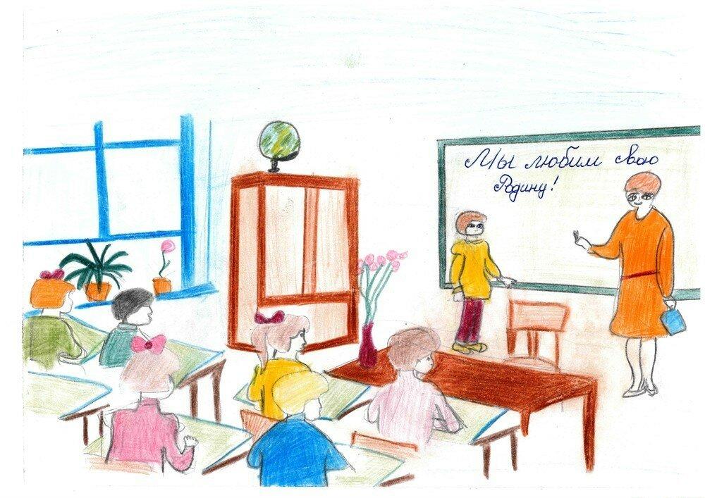 рисунки о школе и про школу карандашом считаем, что
