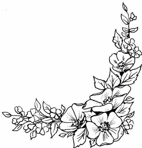 цветы для рамки картинки черно белые ржали сначала, потом