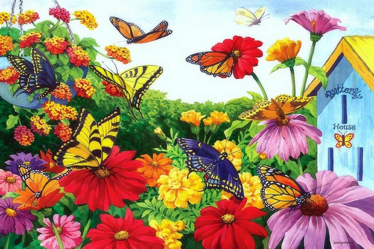 сразу картинка цветочный луг в сказочной стране вас откроется новая