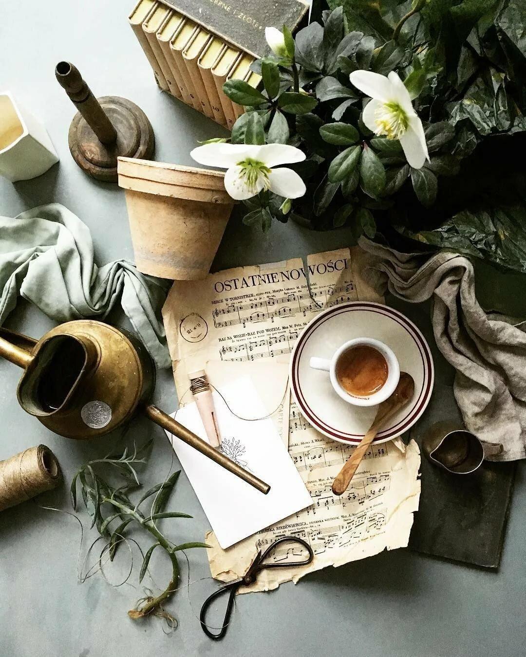 Фото кофе и музыка