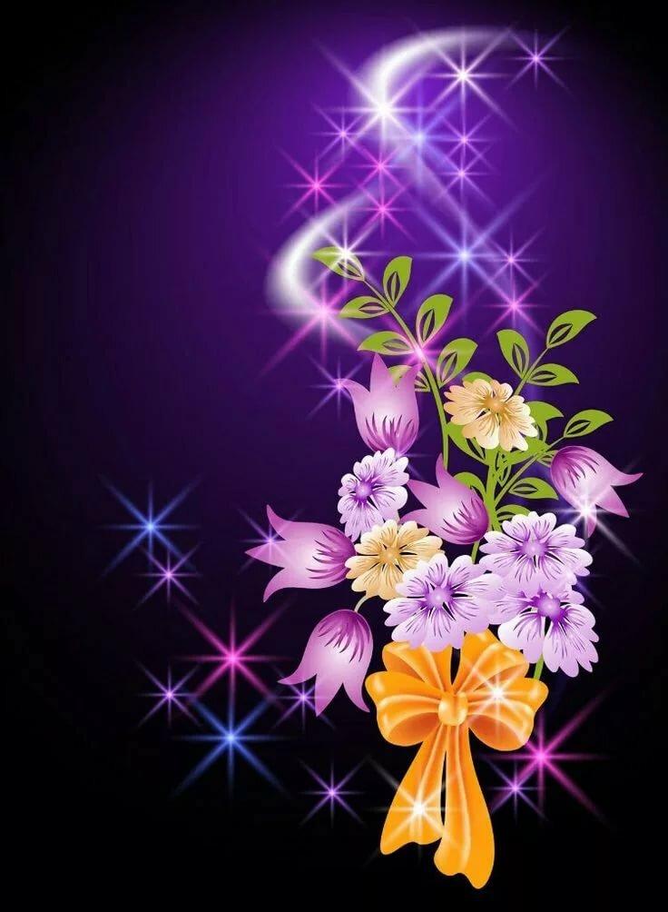 Картинки анимация цветы в телефон
