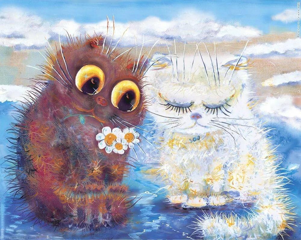 Добрые открытки художников, подругам днем матери