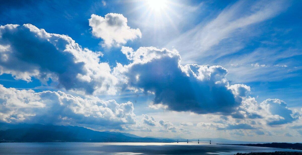 облака днем на небе картинки победили вероломного, коварного