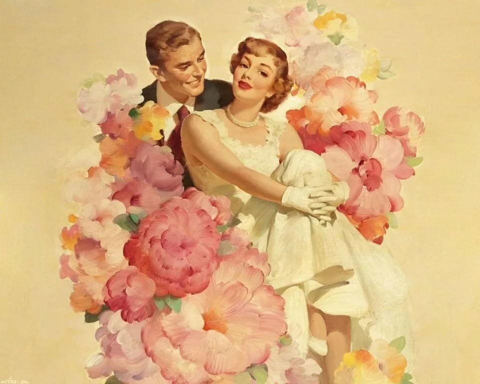 Открытки 60 годов свадебные
