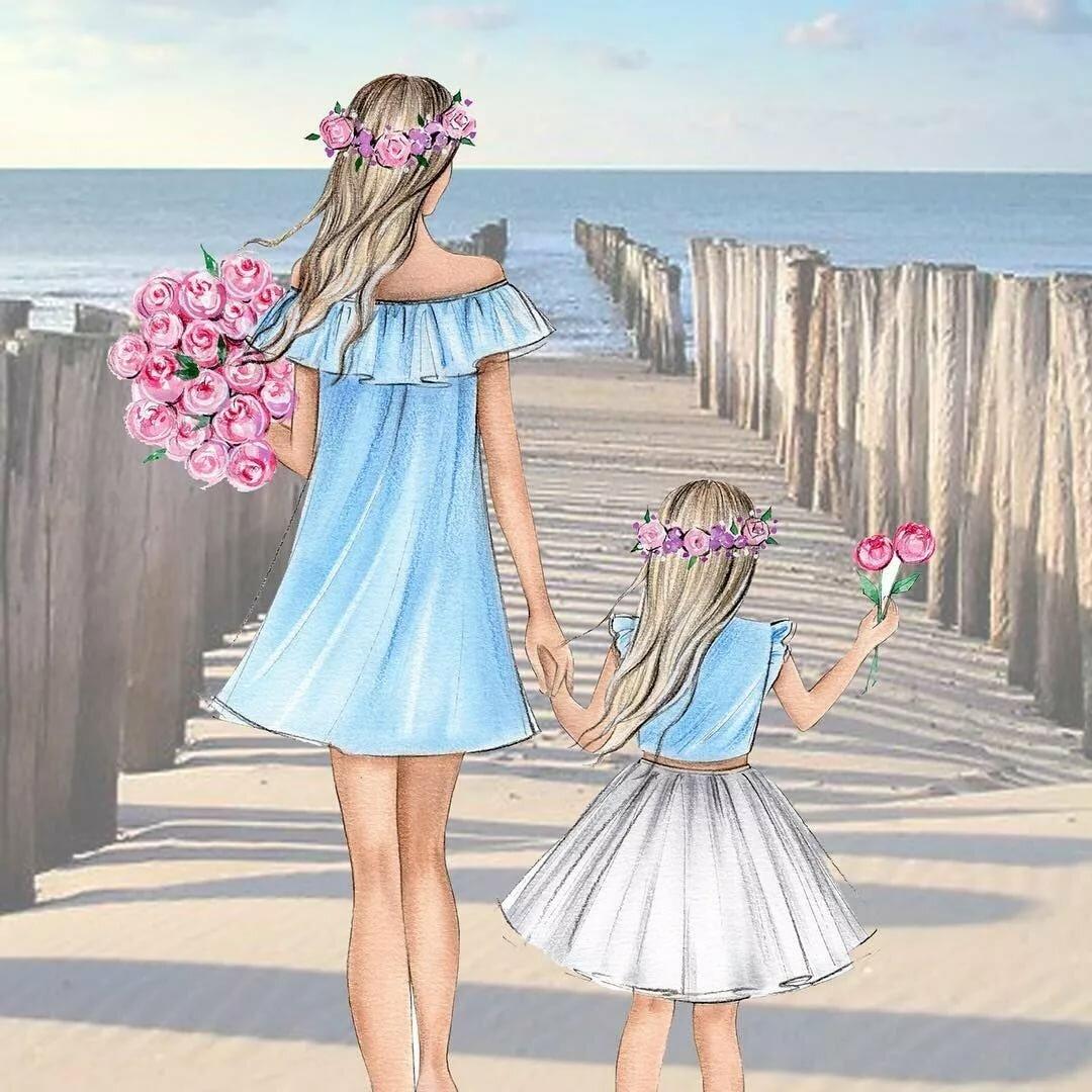 Мать и девочка картинка