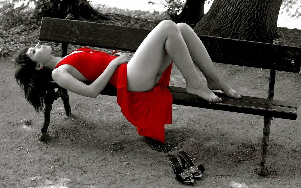 Жопа на скамейке — img 9