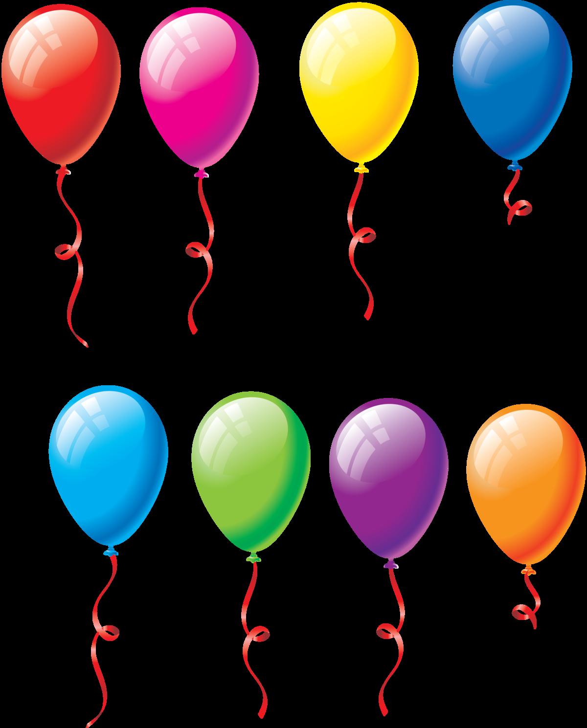 Картинка цветные воздушные шарики