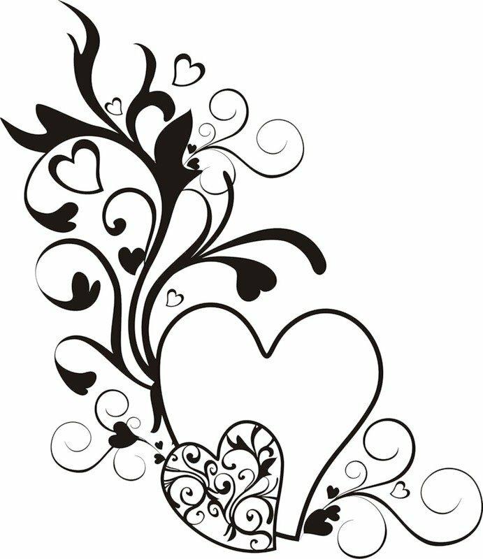 вашему рисовать картинки сердечки с узорами всех