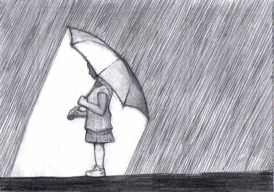 Рисунки карандашом поэтапно грустные