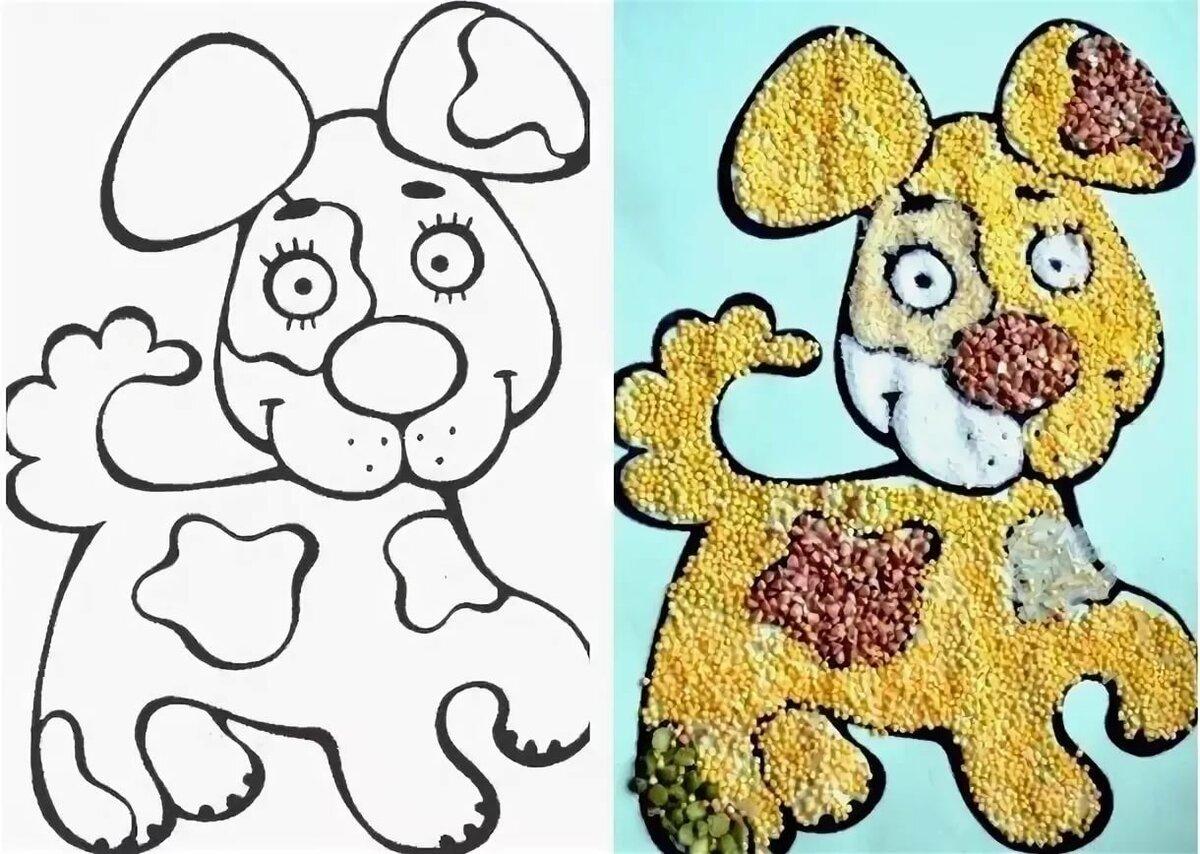 картинка собаки для аппликации крупным прозрачным камнем