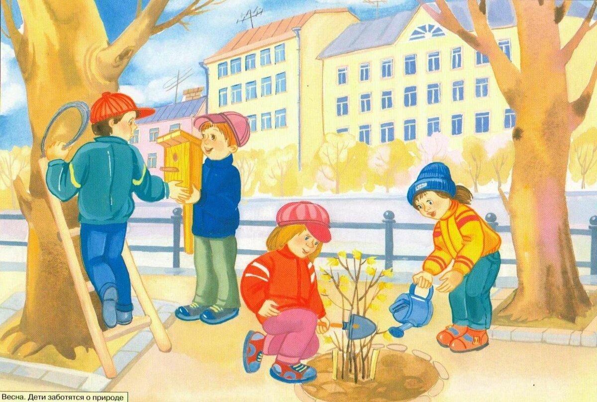 Картинка труд людей весной для детей, картинки