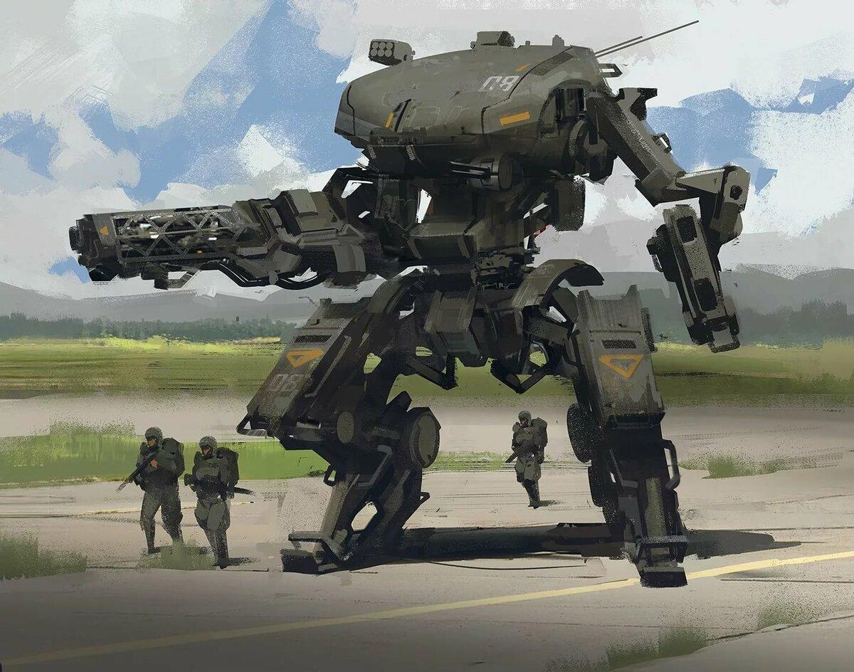 Картинка боевого робота