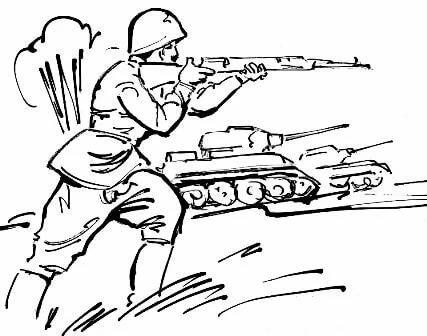 Картинки раскраски о войне