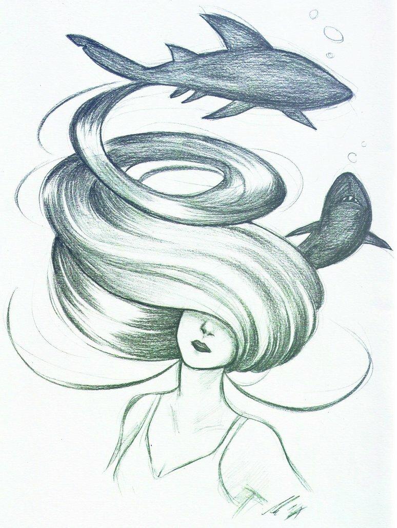 Картинки необычные нарисованные карандашом легко, днем