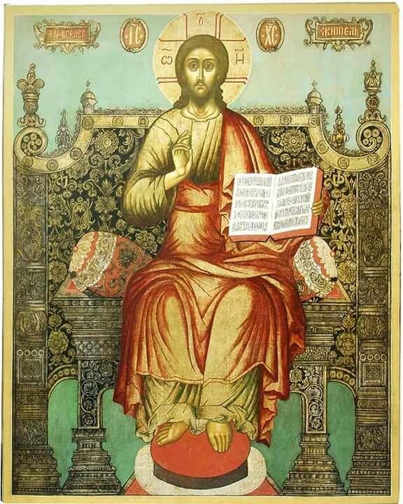 фото иконы спас на троне