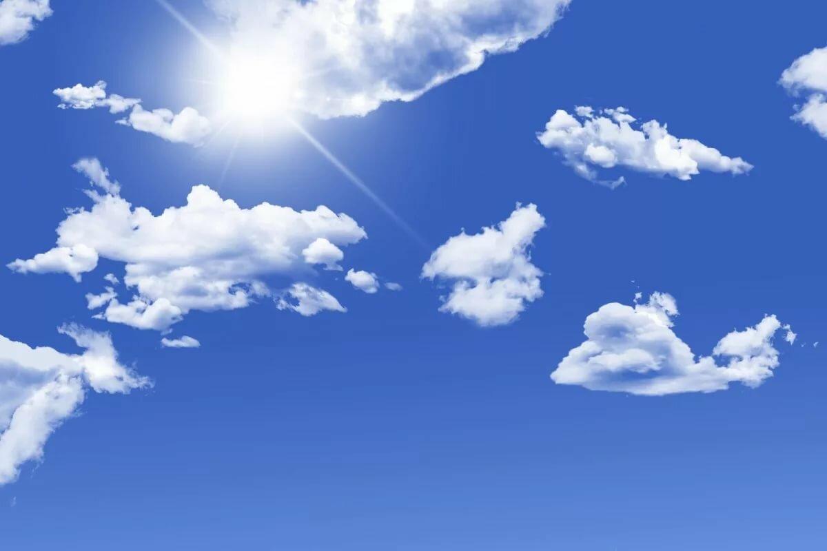 Поздравления, открытка с облаками
