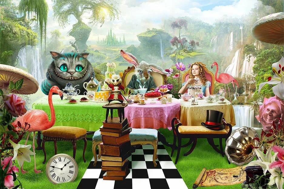 Алиса в стране чудес открытка, символ