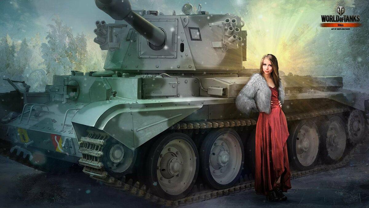 Рисунок девушка танкист — pic 5