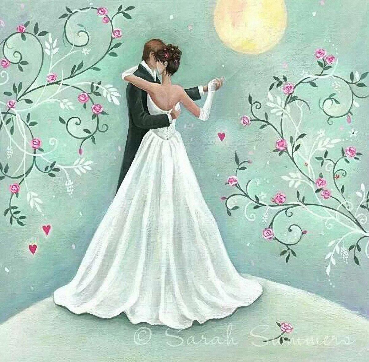 Любимая, свадебные рисунки для открыток