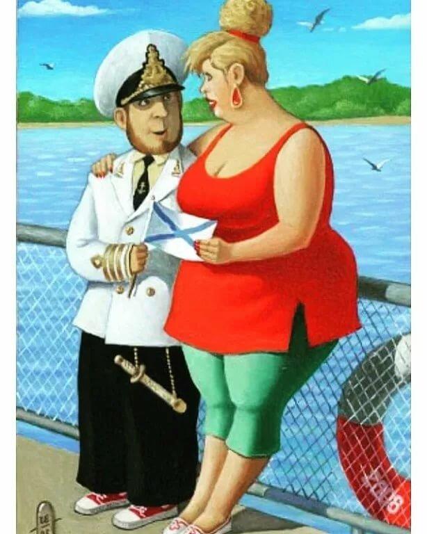 Тренер, прикольные рисунки моряка
