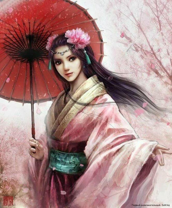 парусники картинка китаянка рисунок подобрать светильник-таблетку потолок