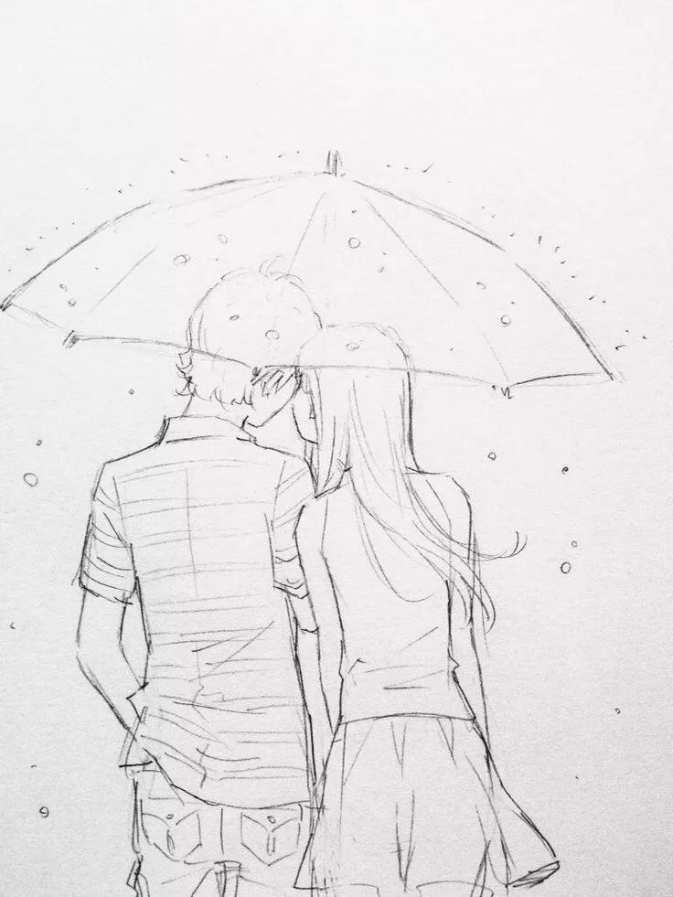 Поздравления, простые романтические картинки для срисовки