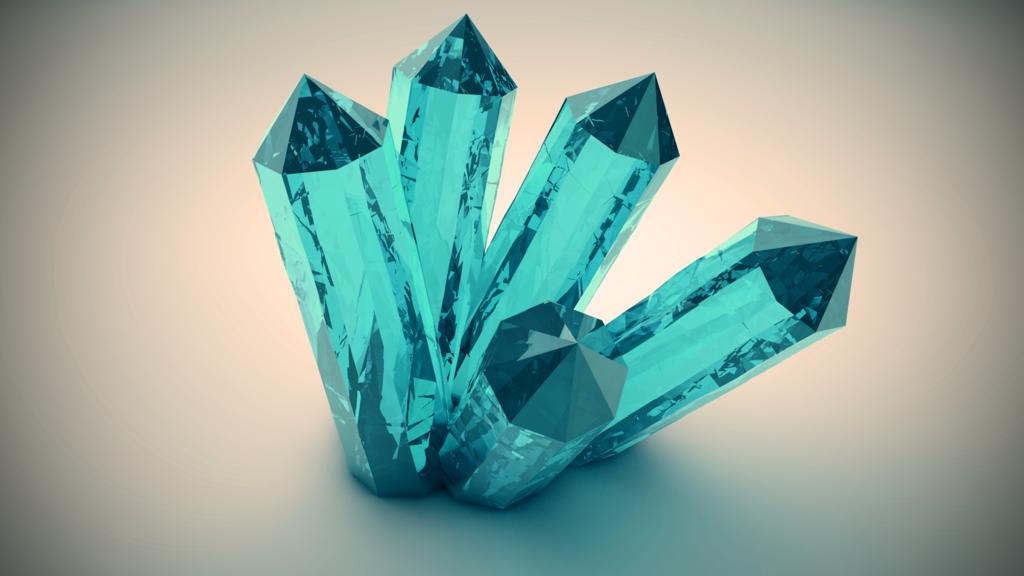 потому кристаллы с картинками уже