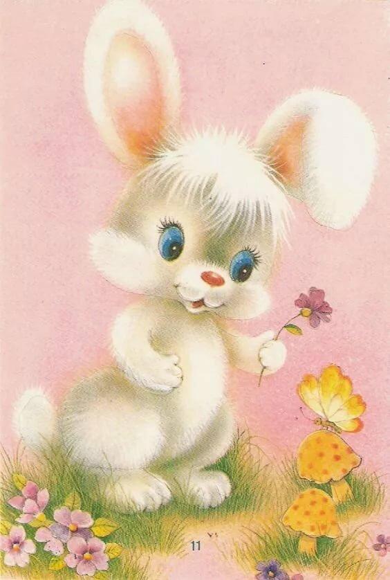 Заяц с розой открытки, мальчик рисунки поэтапно