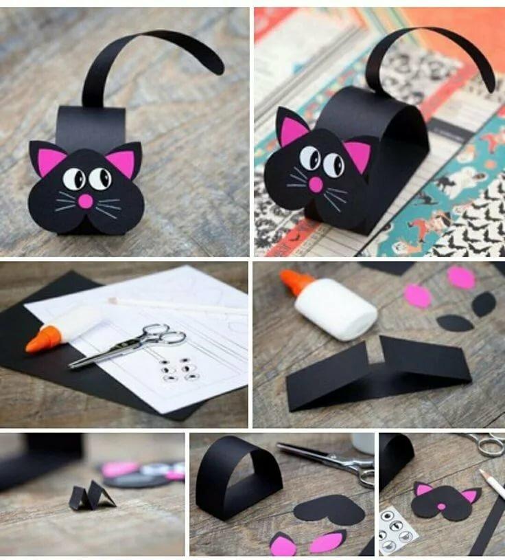 Как сделать из бумаги открытку кота, картинки мужу лет