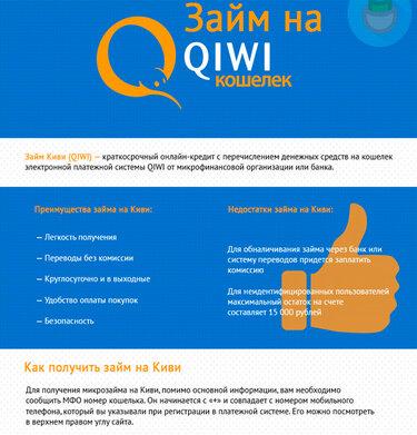 Все о займах на QIWI-кошелек