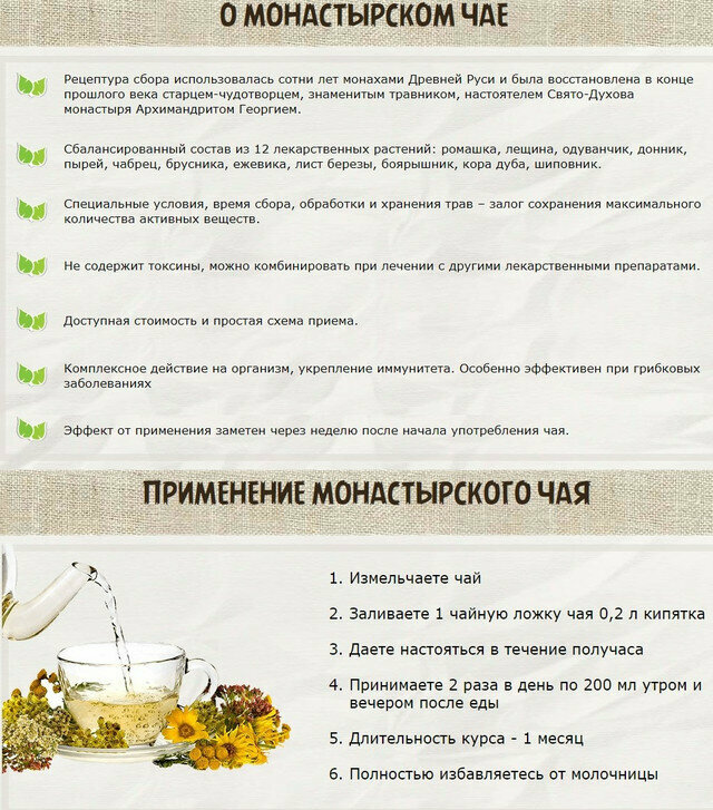 Монастырский чай от молочницы в Якутске