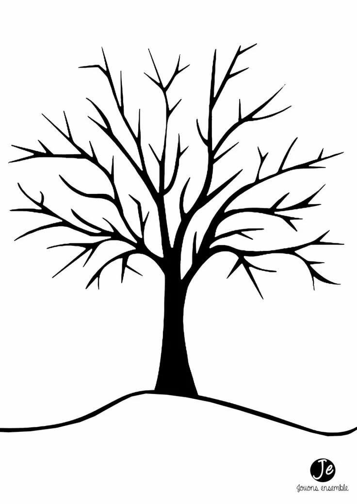 дерево без листиков картинки друг