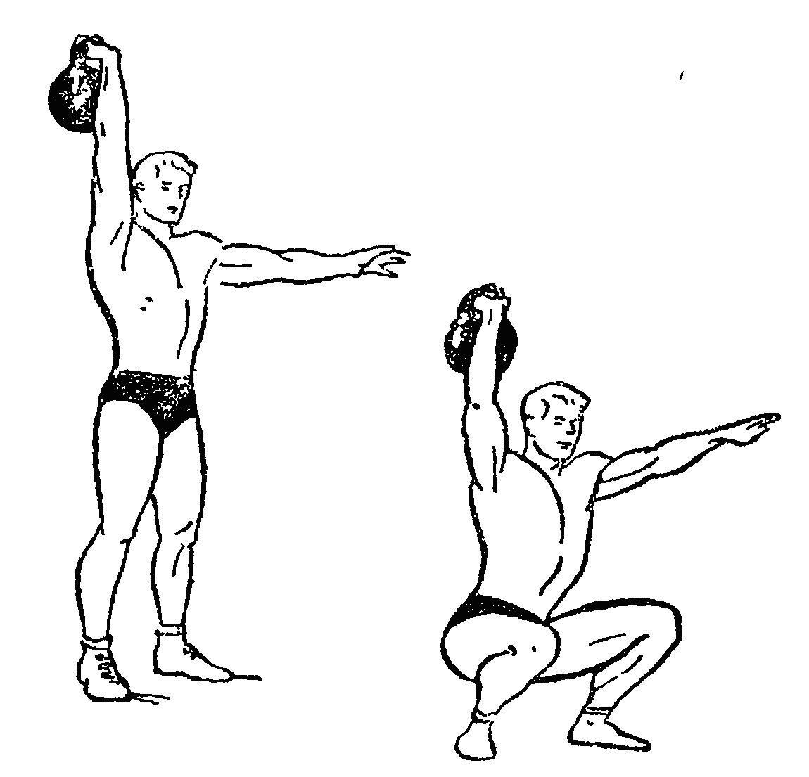 Комплекс упражнений с гирями картинках