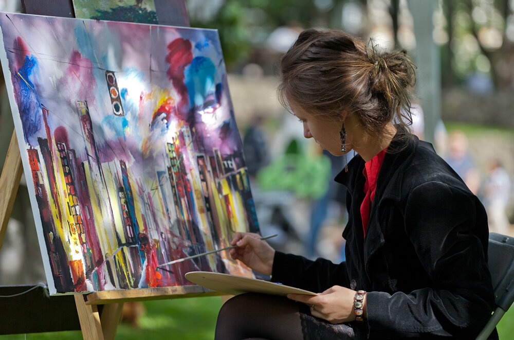 Красивые картинки про художников
