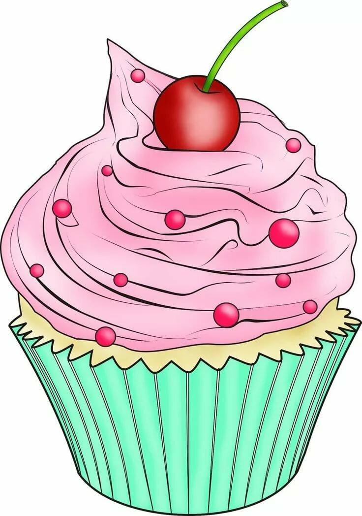 Картинки нарисованные пироженки и тортики