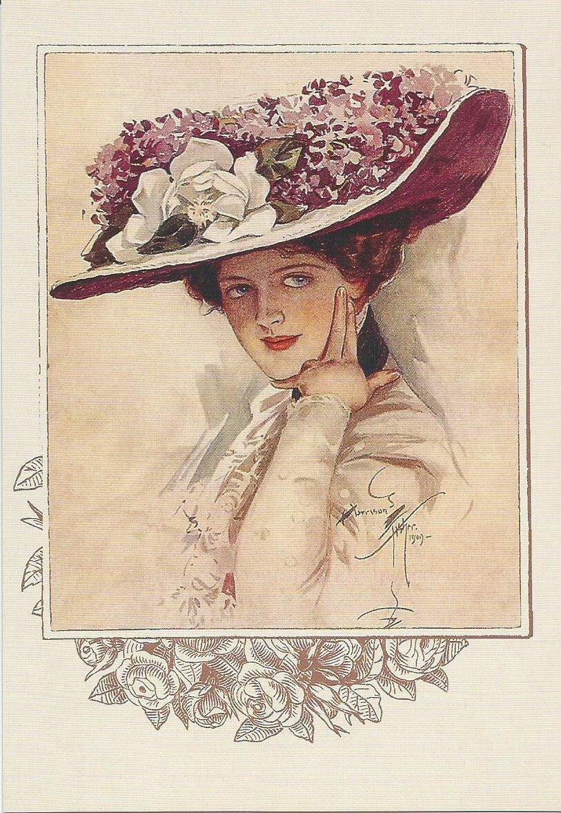 Именами, открытки женщина в шляпе