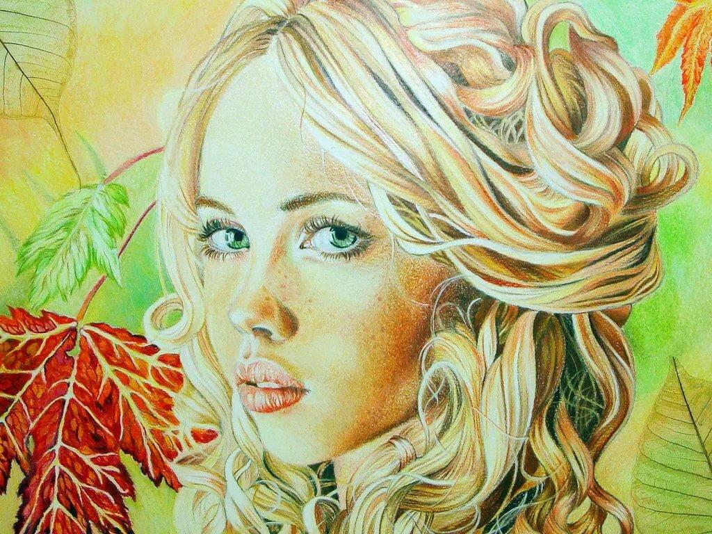 Днем, картинка лицо девушки нарисованные
