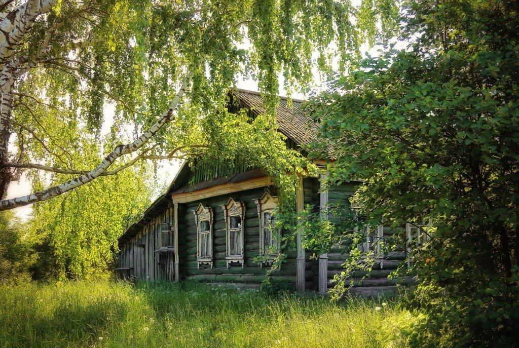 Фото с домом в деревне