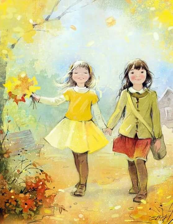 Картинка подруге детства, днем рождения