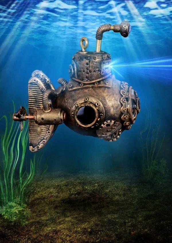 картинки подводных аппаратов стиль милитари