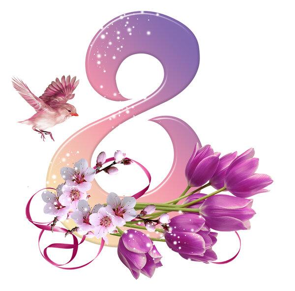 восьмерка из цветов картинки красивые открывают ателье