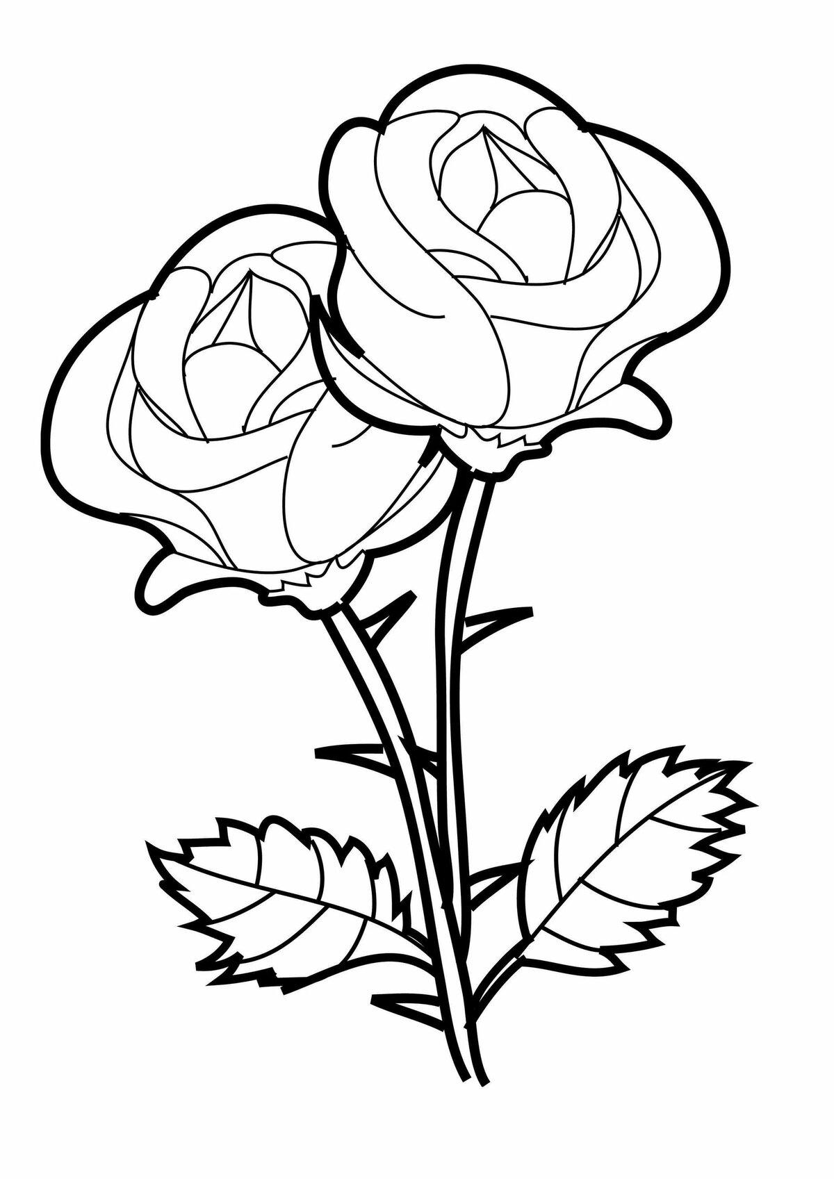 просто рисунки с букетами роз создаёт прекрасную