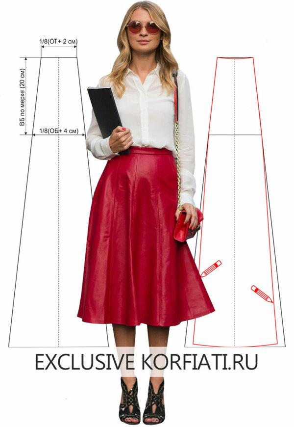 ed1db29f503 Натуральная кожа ягодно-красного цвета превратила простую юбку-восьмиклинку  в объект желаний каждой модницы