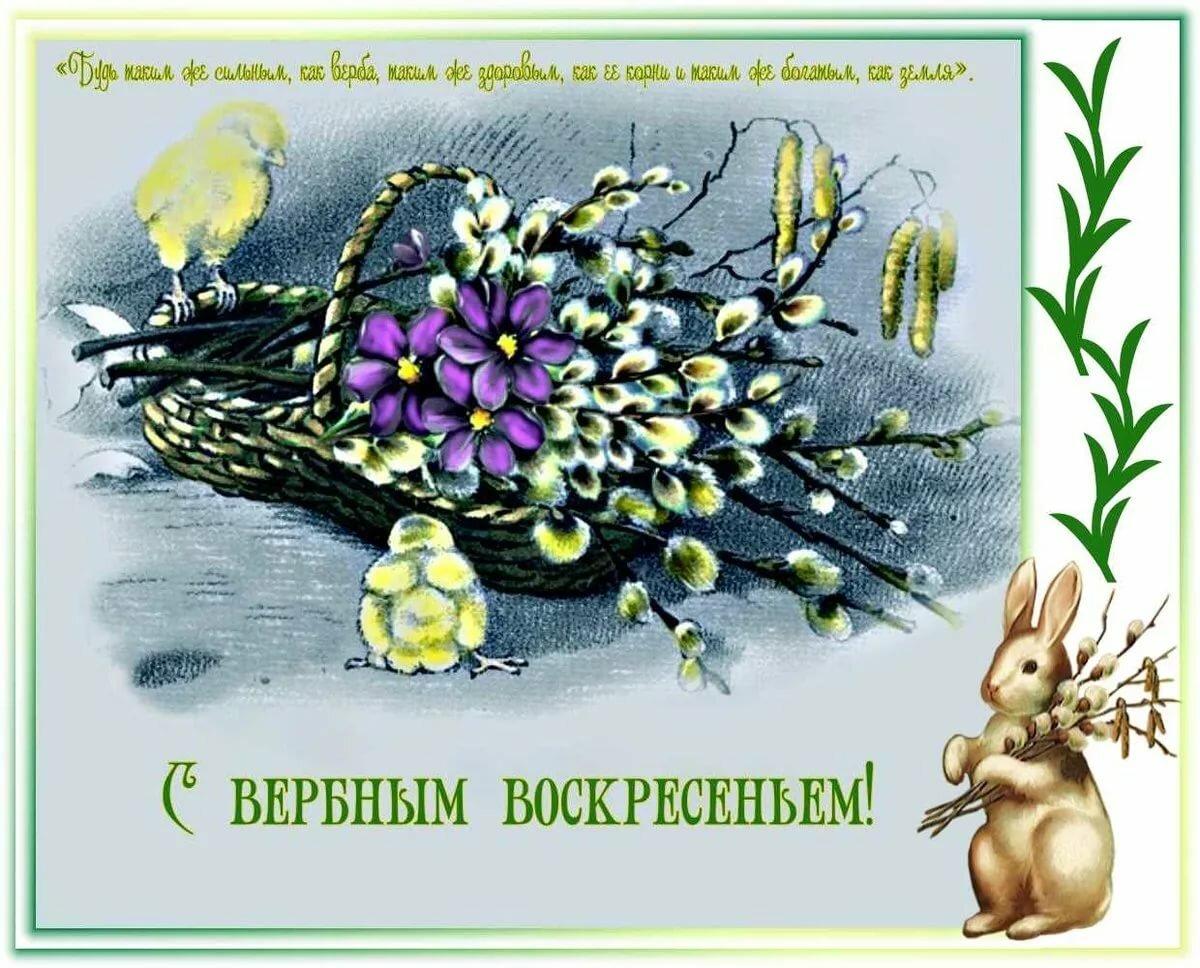 Блестящие картинки с наступающим вербным воскресеньем