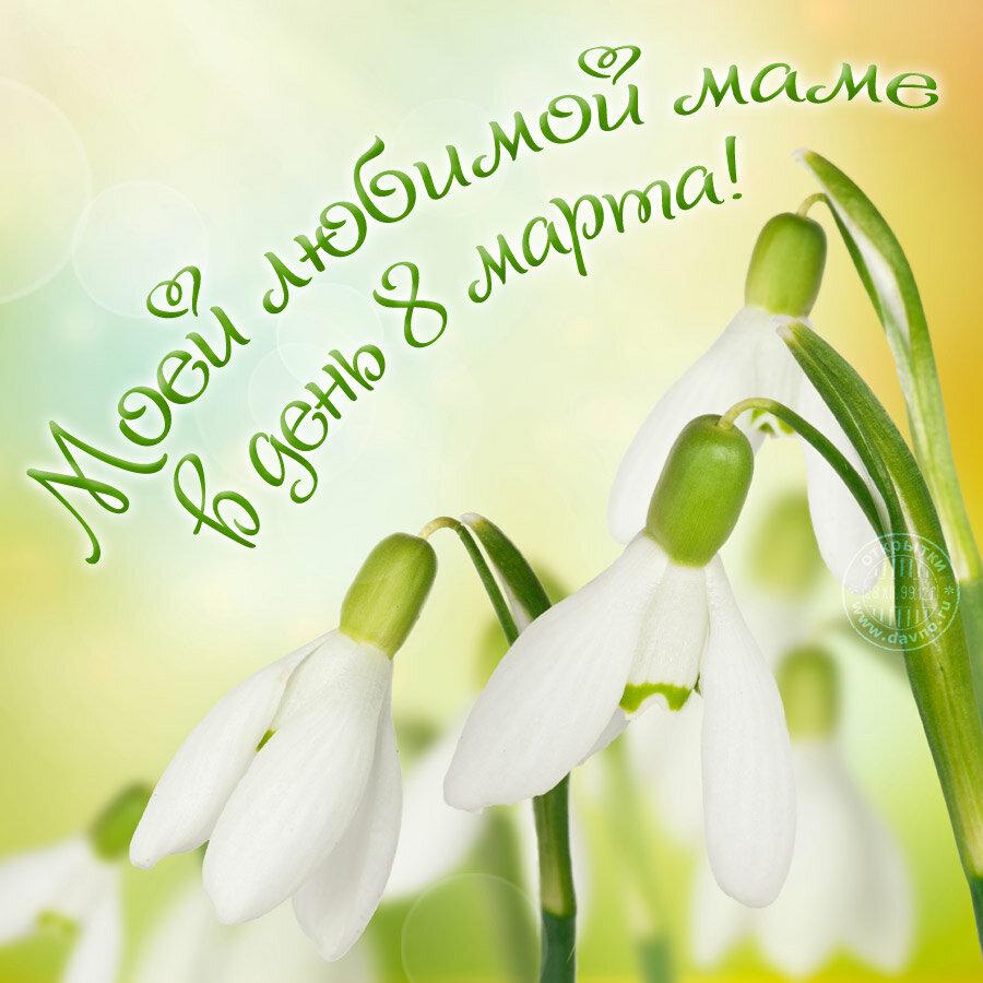 Поздравление маме в открытке на 8 марта, день